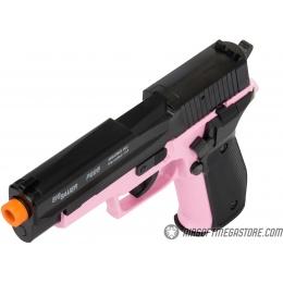 Sig Sauer P226 Spring Airsoft Pistol w/ Spare Magazine - BLACK / PINK