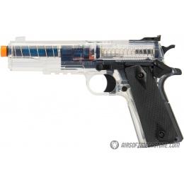 Sig Sauer GSR 1911 Spring Airsoft Pistol w/ Spare Magazine - BLACK / CLEAR