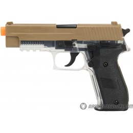 Sig Sauer P226 Spring Airsoft Pistol - DARK EARTH / CLEAR