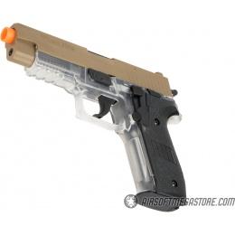 Sig Sauer P226 Spring Airsoft Pistol - DARK EARTH / CLEAR