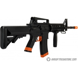 Sig Sauer Patrol  Airsoft Gun Kit with M4 AEG Rifle and pistol and 5000 rounds of BBs - BLACK / ORANGE