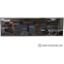 Sig Sauer Patrol  Airsoft Gun Kit with M4 AEG Rifle and pistol and 5000 rounds of BBs - BLACK