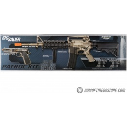 Sig Sauer Patrol  Airsoft Gun Kit with M4 AEG Rifle and Pistol and 5000 Rounds of BBs - See through