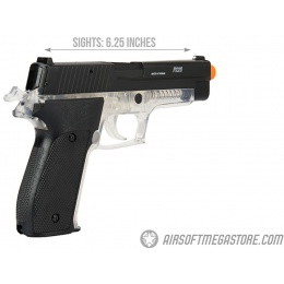 Sig Sauer P226 Spring Airsoft Pistol - BLACK / CLEAR