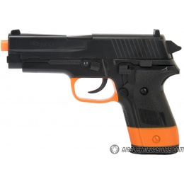 Sig Sauer P228 Spring Airsoft Pistol - BLACK / ORANGE