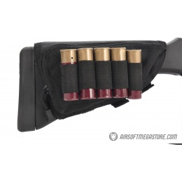 Lancer Tactical Tactical Hook and Loop Shotgun Shell Holder - BLACK
