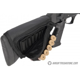 Lancer Tactical Tactical Hook and Loop Shotgun Shell Holder - BLACK