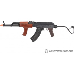 E&L Airsoft AK AIMS Platinum AEG Airsoft Rifle w/ Wood Furniture - BLACK