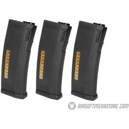 KWA 120rd MS120 Mid Capacity Airsoft AEG Rifle Magazine [3 Pack] - BLACK