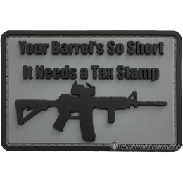 G-Force Your Barrel's So Short Morale PVC Patch - GRAY