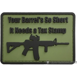 G-Force Your Barrel's So Short Morale PVC Patch - GREEN