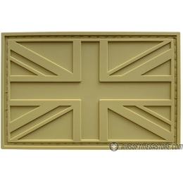 G-Force United Kingdom Flag PVC Morale Patch - TAN