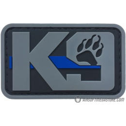 G-Force K9 Dog Paw PVC Morale Patch - GRAY