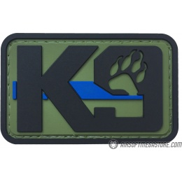G-Force K9 Dog Paw PVC Morale Patch - OLIVE GREEN