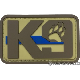 G-Force K9 Dog Paw PVC Morale Patch - TAN