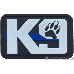 G-Force K9 Dog Paw PVC Morale Patch - BLACK / WHITE