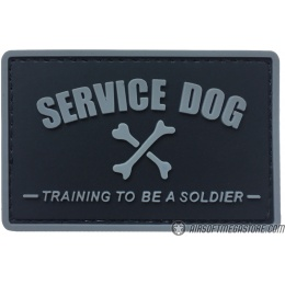 G-Force Service Dog Training to Be a Soldier PVC Morale Patch - BLACK