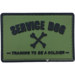 G-Force Service Dog Training to Be a Soldier PVC Morale Patch - OLIVE GREEN