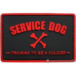G-Force Service Dog Training to Be a Soldier PVC Morale Patch - RED