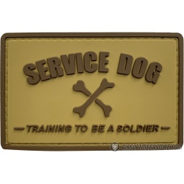 G-Force Service Dog Training to Be a Soldier PVC Morale Patch - TAN