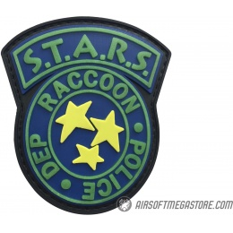 G-Force S.T.A.R.S. Raccoon City Police PVC Morale Patch [Glow in the Dark] - BLACK