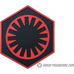 G-Force First Order PVC Morale Patch - RED / BLACK