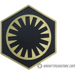 G-Force First Order PVC Morale Patch - TAN / BLACK