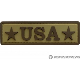 G-Force USA PVC Morale Patch - TAN