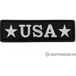 G-Force USA PVC Morale Patch - BLACK / WHITE