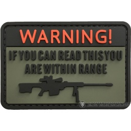 G-Force Warning If You Can Read This You're Within Range PVC Morale Patch - OD