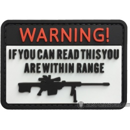 G-Force Warning If You Can Read This You're Within Range PVC Morale Patch - WHITE