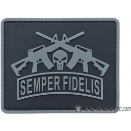 G-Force Semper Fidelis PVC Morale Patch - GRAY