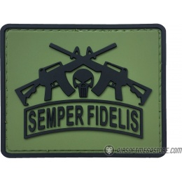 G-Force Semper Fidelis PVC Morale Patch - OLIVE GREEN