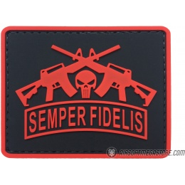 G-Force Semper Fidelis PVC Morale Patch - RED