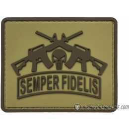 G-Force Semper Fidelis PVC Morale Patch - TAN