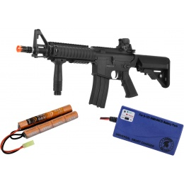 Airsoft Mega Bundle: LCT SE M4 CQB AEG + 9.6V Nunchuck Battery + Smart Charger