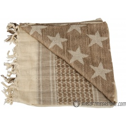 Lancer Tactical Multi-Purpose Shemagh Face Head Wrap - SAND/ STONE STAR