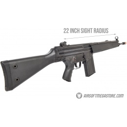 LCT LC-3A3 Full Size AEG Airsoft Rifle w/ Wide Handguard - BLACK