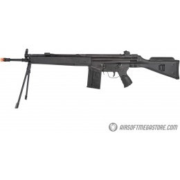LCT LC-3 SG1 Full Size AEG Airsoft Rifle w/ Cheek Rest and Bipod - BLACK