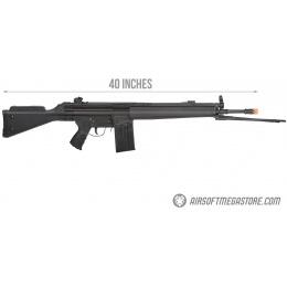 LCT LC-3 SG1 Full Size AEG Airsoft Rifle w/ Cheek Rest and Bipod - BLACK