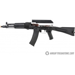 LCT AK104 Airsoft AK104 Steel AEG Airsoft Rifle w/ Folding Stock - BLACK