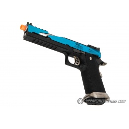 WE Tech 1911 Hi-Capa T-Rex Competition Gas Blowback Airsoft Pistol w/ Top Vent - BLUE / SILVER