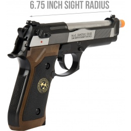WE Tech M9 Samurai Edge Biohazard Gas Blowback Airsoft Pistol [Full/Semi Auto] - BLACK/BROWN/SILVER