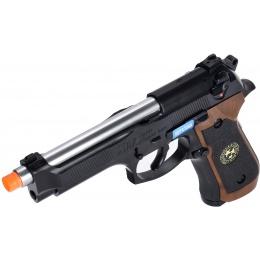 WE Tech M9 Samurai Edge Biohazard Gas Blowback Airsoft Pistol [Full/Semi Auto] - BLACK