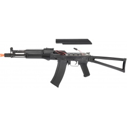 LCT Airsoft AK105 Steel AEG Airsoft Rifle w/ Folding Stock - BLACK