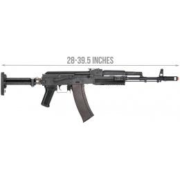 LCT Airsoft STK-74 Tactical AK AEG Rifle - BLACK