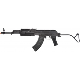 LCT Airsoft TIMS AK47 AEG Rifle w/ Folding Wire Stock - BLACK