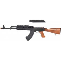 LCT Airsoft TX-63 / AK-63 RIS AEG Rifle - REAL WOOD