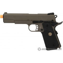 WE Tech 1911 Full Metal MEU Airsoft Gas Blowback Pistol - OD