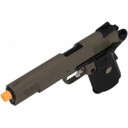 WE Tech 1911 Full Metal MEU Airsoft Gas Blowback Pistol - OD